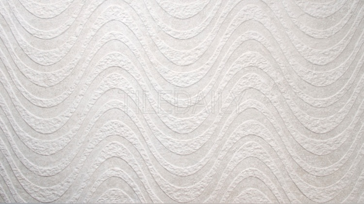 Greystone Porcelain Tile, Wave, Light Grey, or white