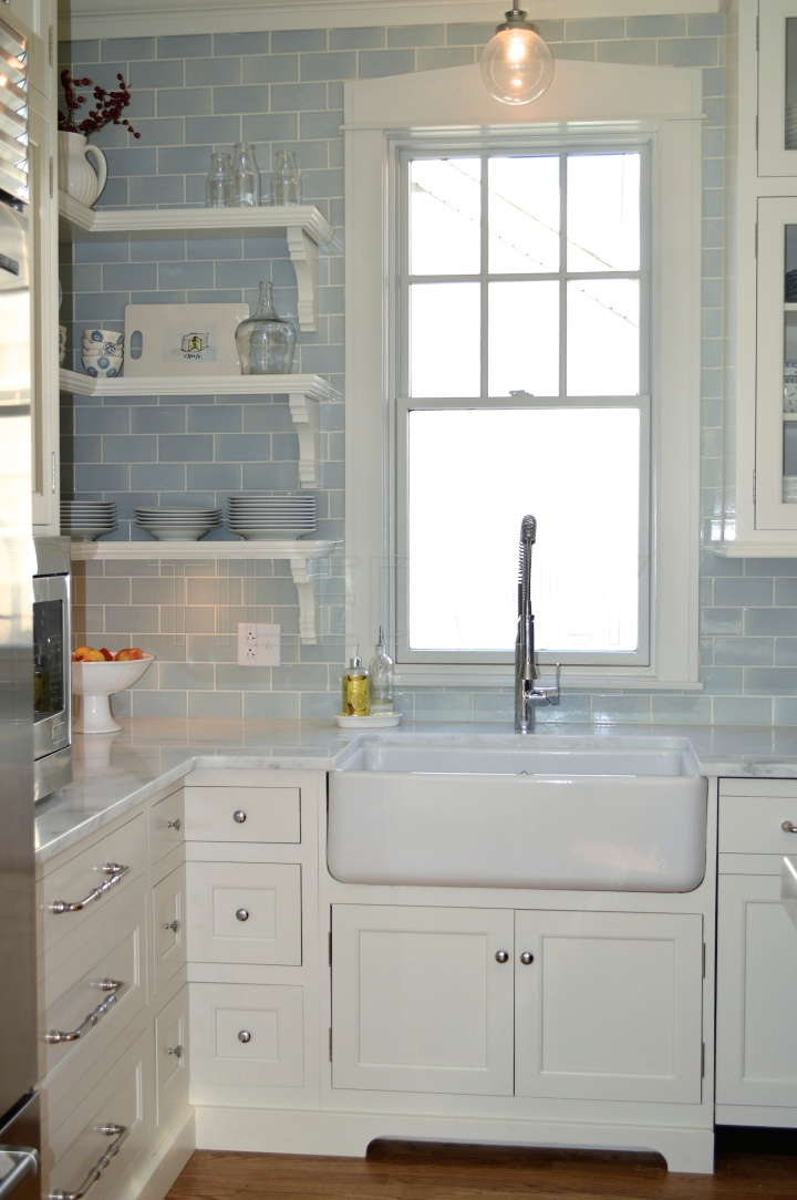 3x6 Ice Blue Ceramic Subway Tile, available at TileDaily