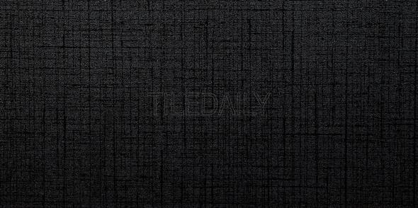 Linen Gloss Porcelain Tile in Super Black Available at TileDaily