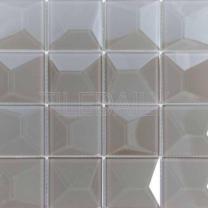 Essence 3D iridescent Glass Mosaic Tile