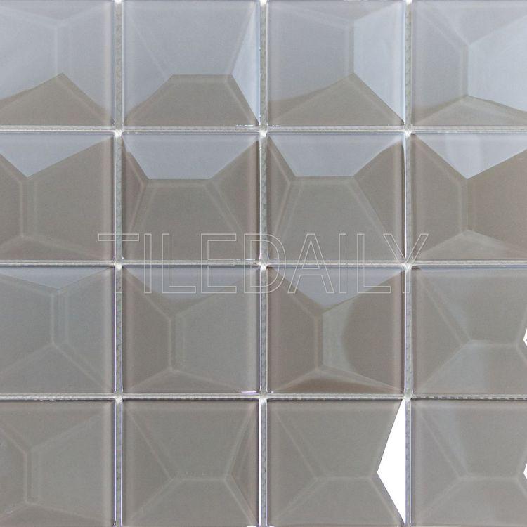 Essence 3D iridescent Glass Mosaic Tile