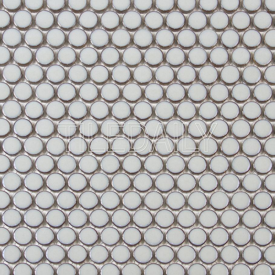 Penny Round Mosaic Tile CC Mosaic Hudson