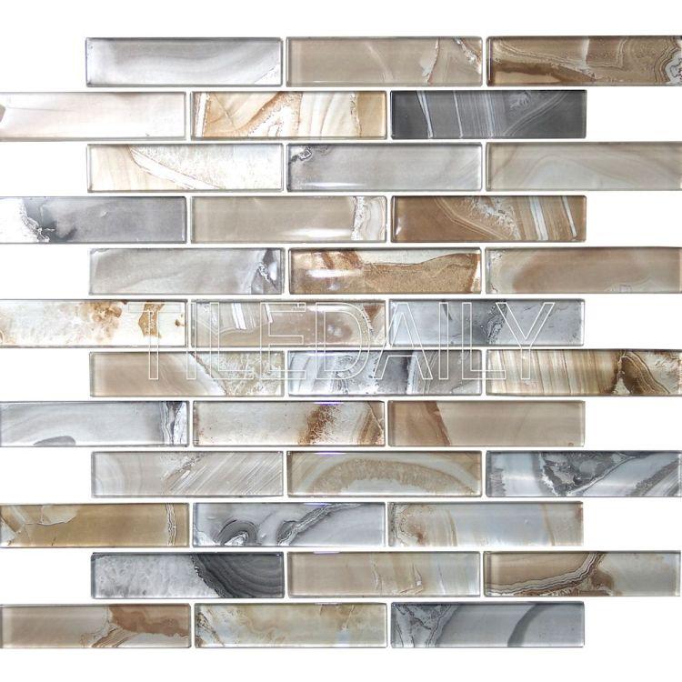 Agate Glass Mosaic, Light Beige