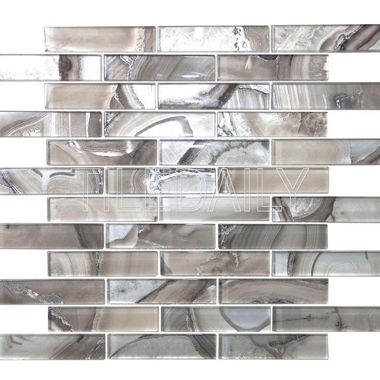 Agate Glass Mosaic, Light Grey