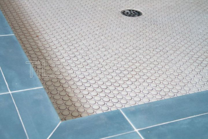 White Penny Round Porcelain Mosaic Tile