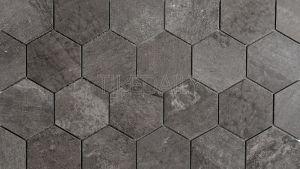 Cement Texture Hexagon Porcelain Mosaic Tile