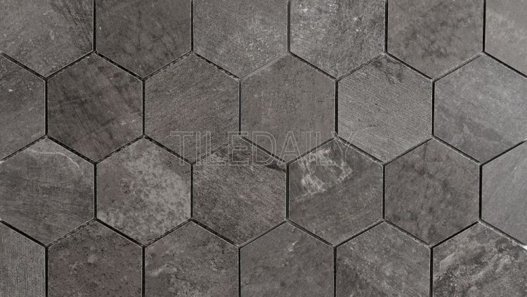 Cement Texture Hexagon Porcelain Mosaic Tile