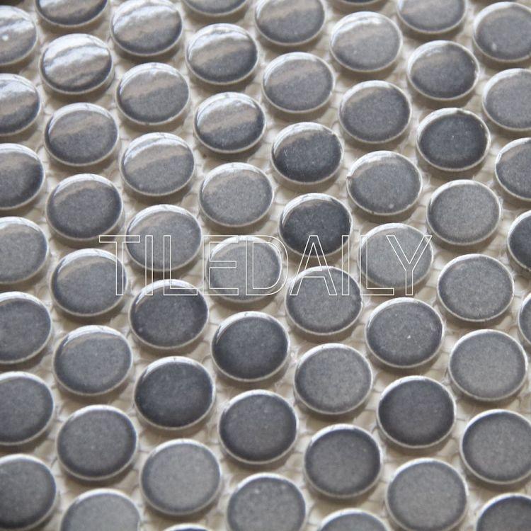 Gradient Mix Grey Mosaic Tile