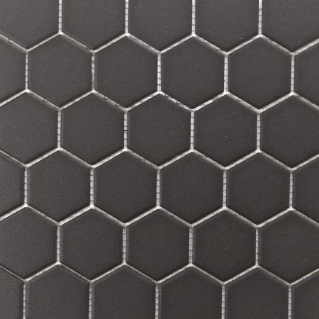 Retro Unglazed Hexagon Mosaic Tile, 2""