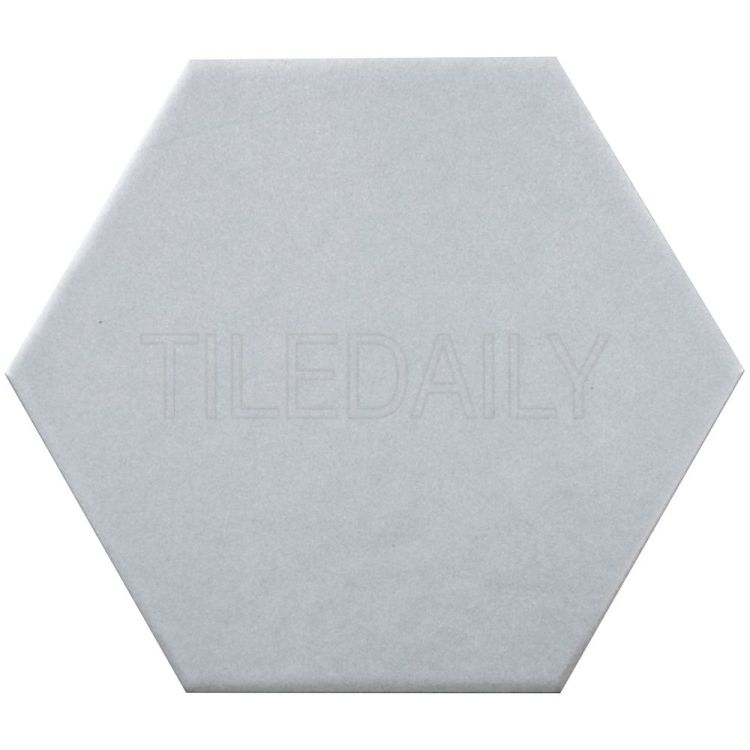 "Retro 8"" Hexagon Porcelain Tile Grey"