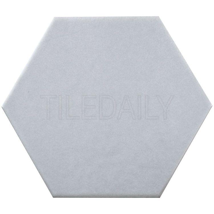 """Retro 8"""" Hexagon Porcelain Tile Grey"""