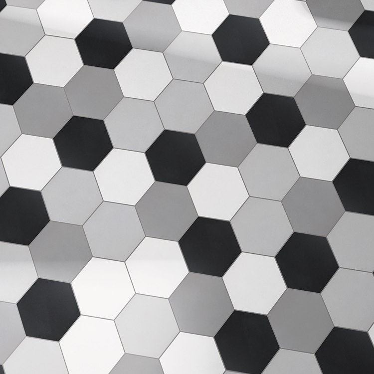 Retro 8 inch hexagon tile, wall and floor tile