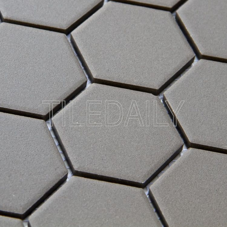 Retro Hexagon Mosaic, Grey