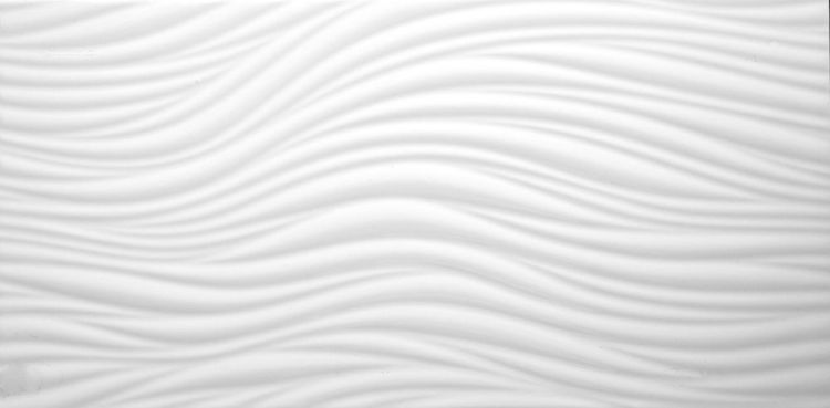 3D white wave ceramic wall tile