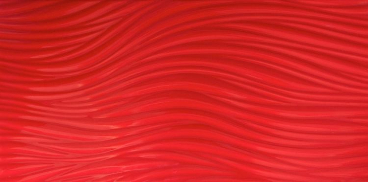 3D glossy red wave ceramic wall tile
