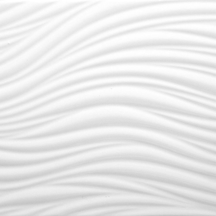 P0119 Surf Wave Ceramic Tile, White, TileDaily