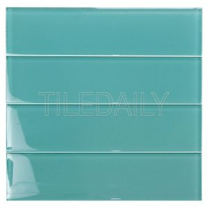 Teal Green Glass Subway Tile Kitchen Backsplash Shower Wall