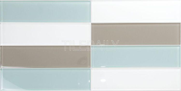 Mix Aqua Green Aqua Blue Subway Glass Tile