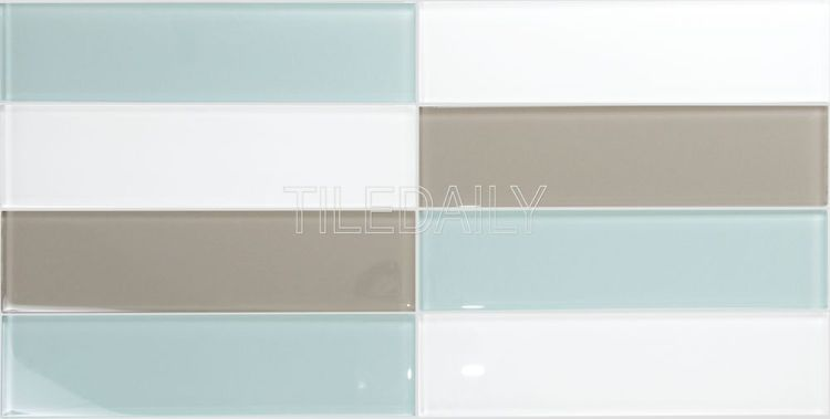 Mix Aqua Green Aqua Blue Subway Glass Tile