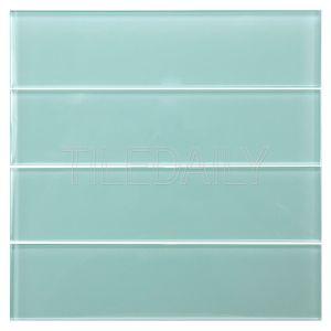 Aqua Green Glass Subway Tile Kitchen Backsplash Shower Wall
