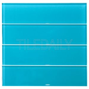 Turquoise Blue Glass Subway Tile Kitchen Backsplash Shower Wall