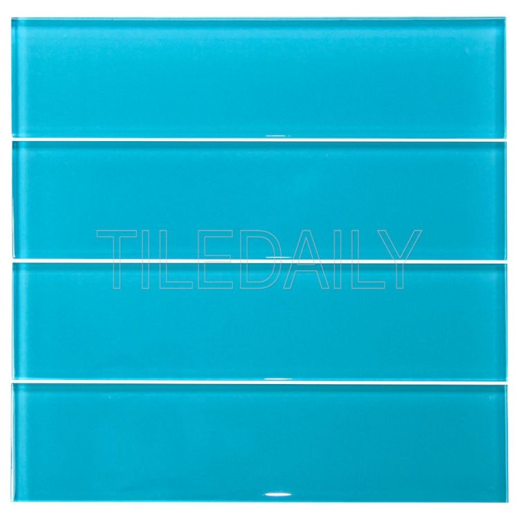 3x12 Turquoise Glass Subway Tile
