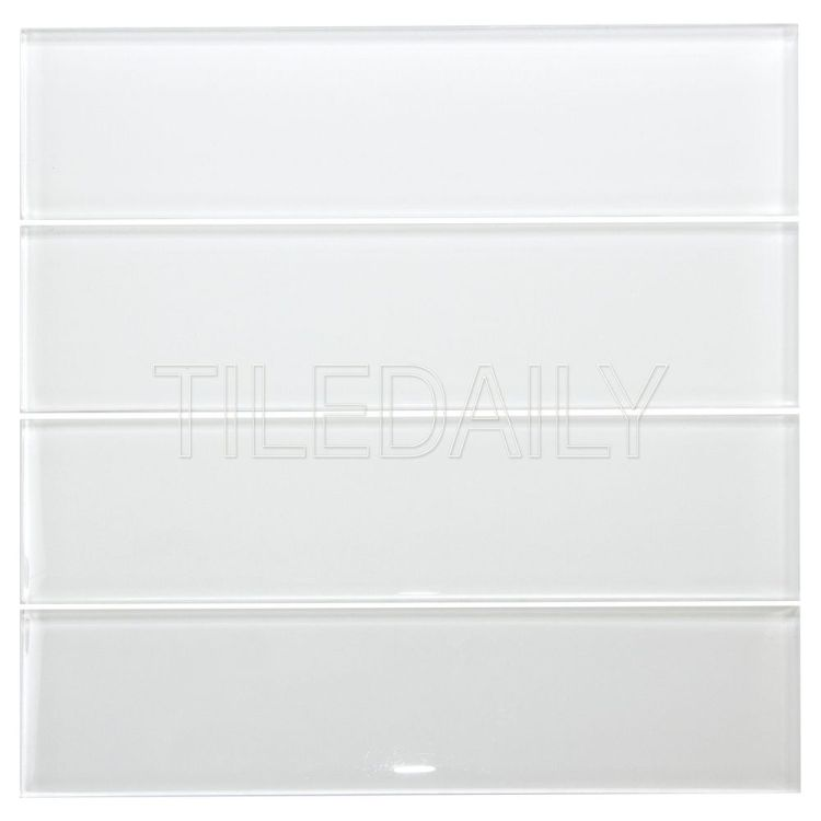 3x12 White Glass Subway Tile