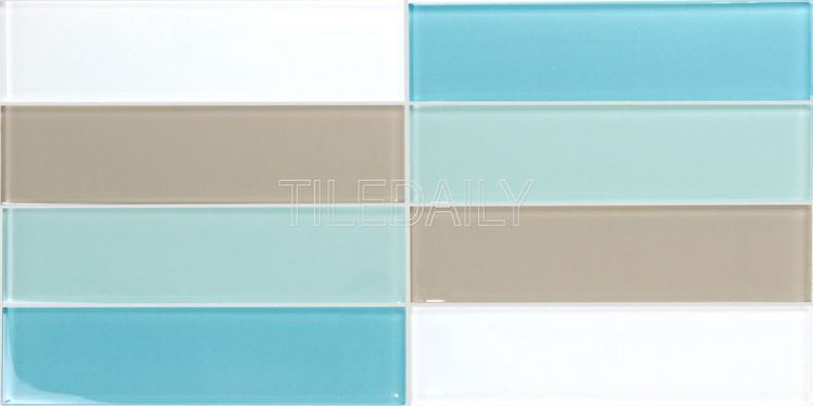 Light Turquoise Blue Glass Subway Tile Kitchen Backsplash Shower Wall