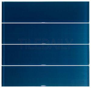 Midnight Blue Glass Subway Wall Tile Kitchen Backsplash