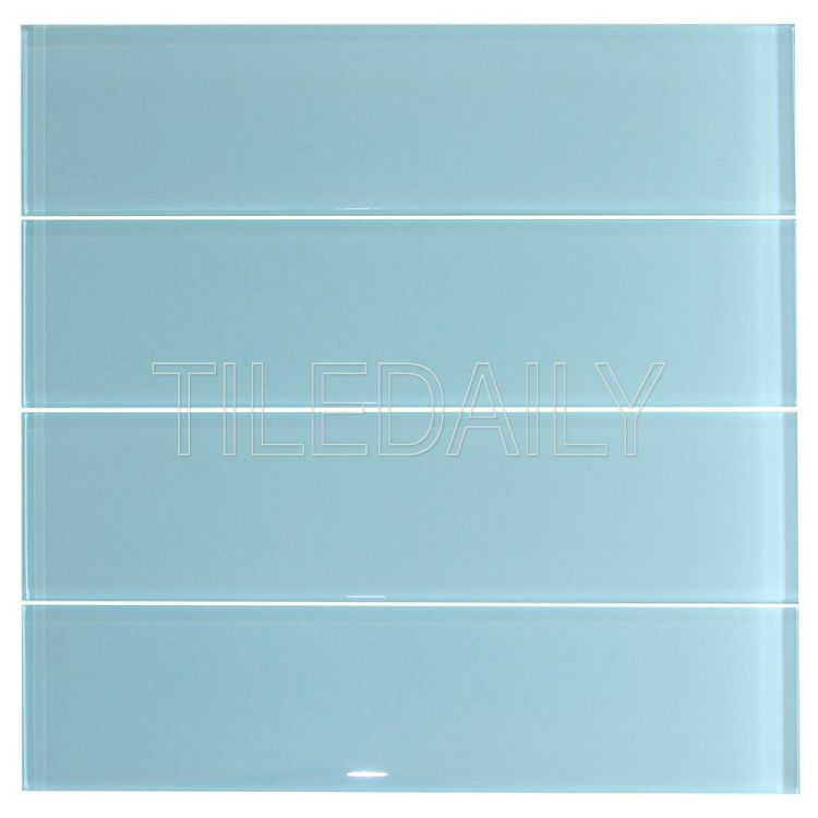 Aqua Blue Glass Subway Wall Tile Kitchen Backsplash Shower Wall