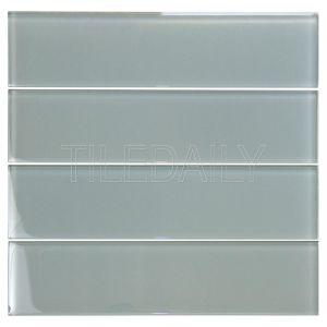 Cool Grey Glass Subway Tile Kitchen Backsplash Shower Wall