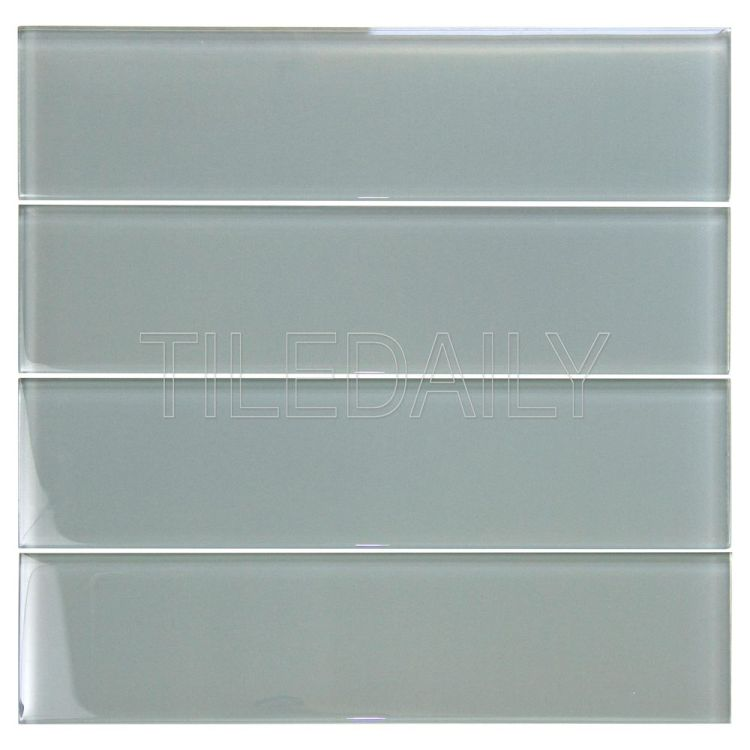 3x12 Cool Grey Glass Subway Tile