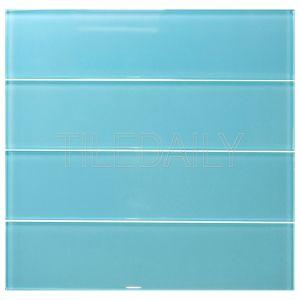 Light Turquoise Blue Glass Subway Tile Kitchen Backsplash Shower Wall