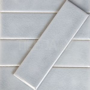 2x8 Oxford Crackle Subway Tile Off White Cottage Kitchen Style