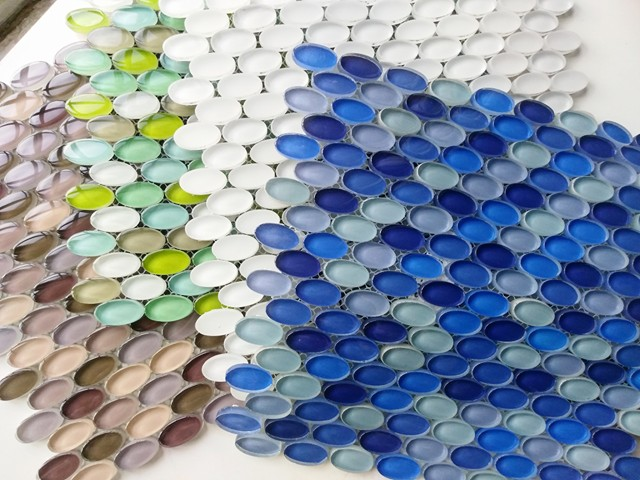 Oval Glass Mosaic Tile On Sale