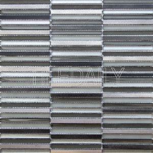 metallic stix glass and metal mosaic wall tile