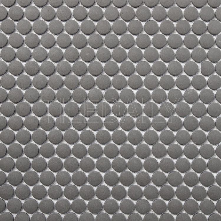 PM0092 Retro Penny Round Mosaic, Grey