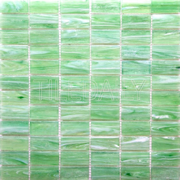 glacier brick glass mosaic pool tile iridescent blue green
