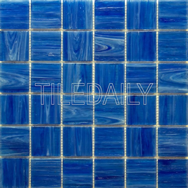 glacier square glass mosaic pool tile iridescent blue