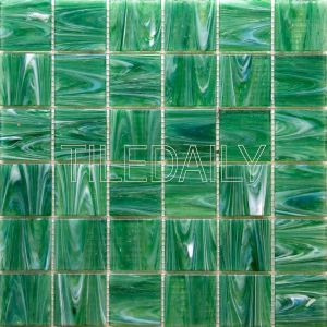 glacier square glass mosaic pool tile iridescent blue