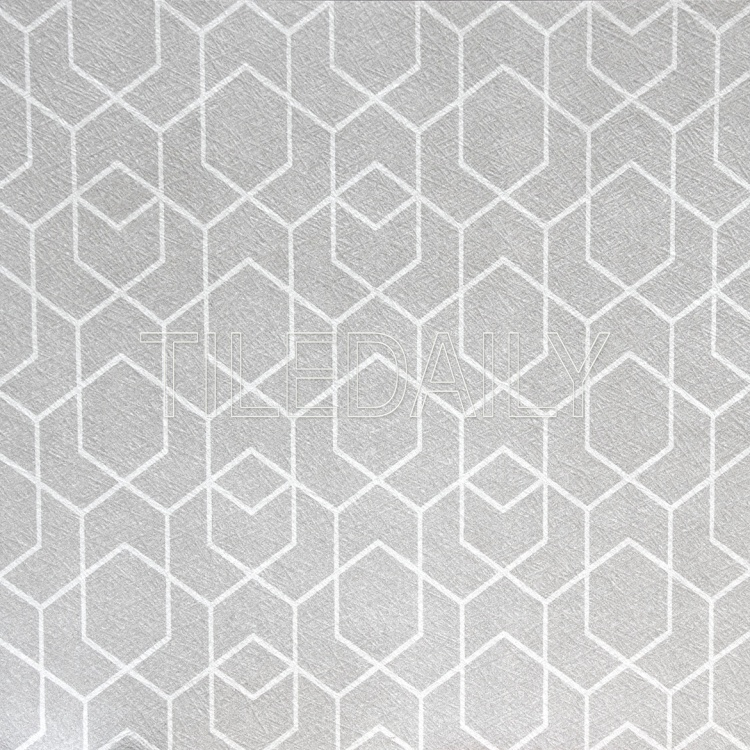 light grey and white geometric pattern wall ceramic tile