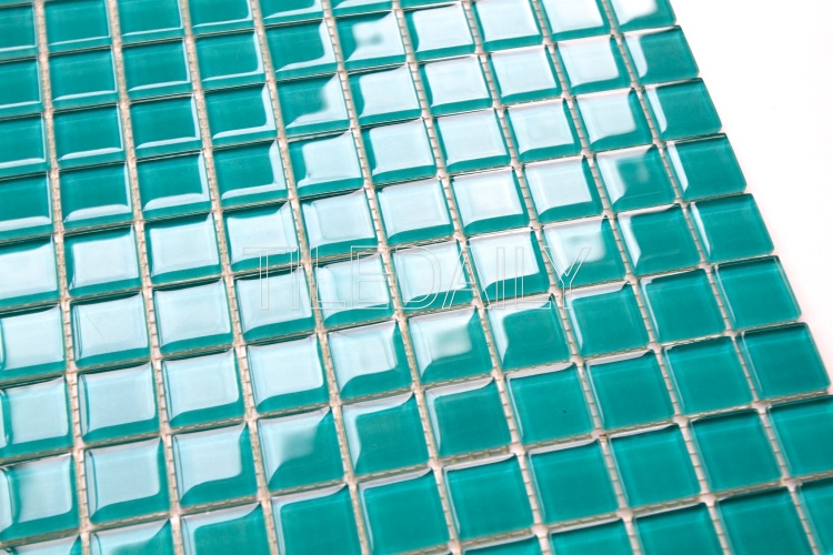Swimming Pool Glass Mosaic Tile Turquoise Green Lagoon Teal Green